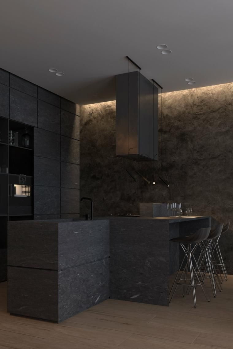 Interior Design Haus 2018 Dunkle Innenarchitektur - zwei Modelle ...