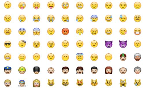 Die Emoji-Piktogramme stammen ursprünglich aus Japan und werden dort seit langem als Emoticons ähnlich der hierzulande üblichen Zeichenfolgen wie ;-)ei...