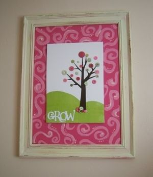 """Button Art """"TREE""""....would be cute in Caylee's room!"""
