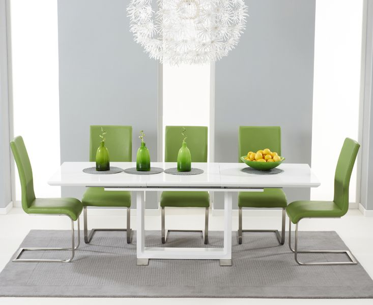 Buy The Bianco 160Cm White High Gloss Extending Dining Table With Simple High Gloss Dining Room Furniture 2018