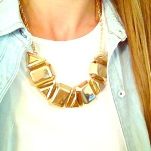 I just discovered this while shopping on Poshmark: Gold statement necklace. Check it out!  Size: OS