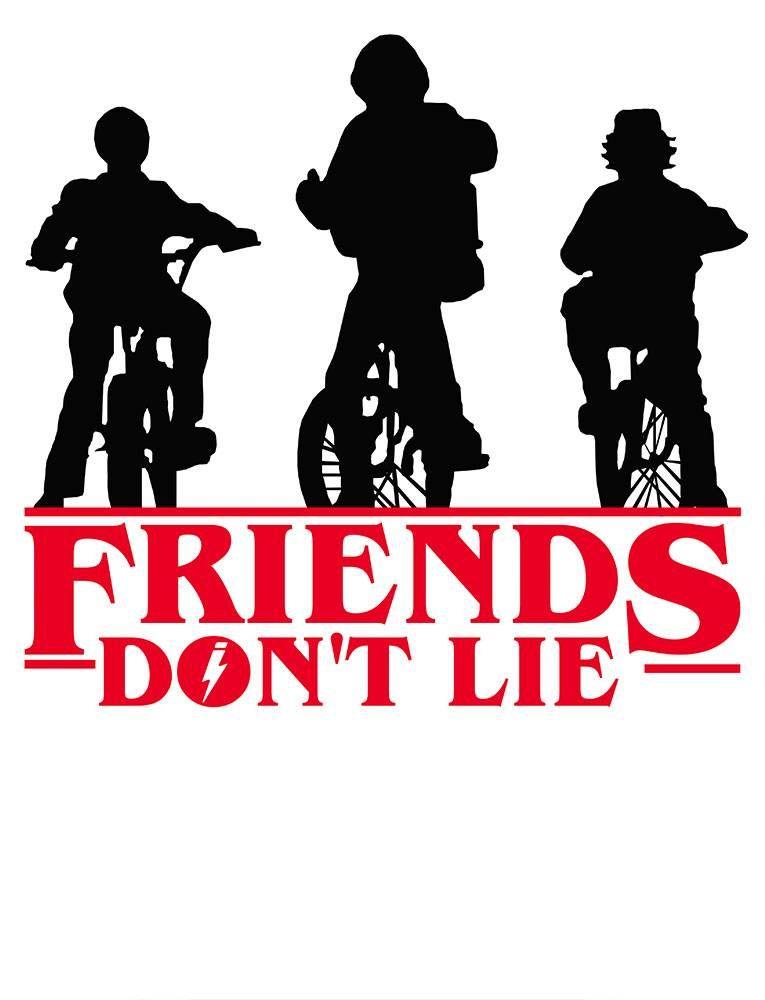 CAMISETA FRIENDS DON T LIE - Mitou Camisetas. Produto disponível nas cores  brancas e e0b47d58ac9