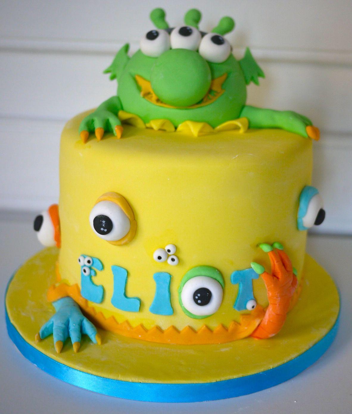 Very Cute Monster cake  Torte Fondant  Torten Fondant