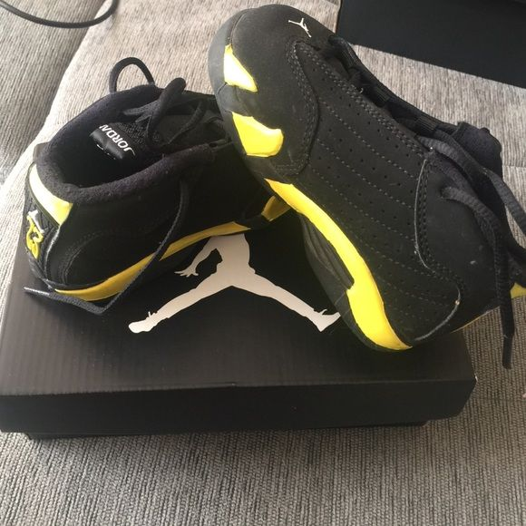 bd1f8e25f3c625 Jordan 14 retro toddler Toddler size 8c Jordan 14 RETROS Jordan Shoes