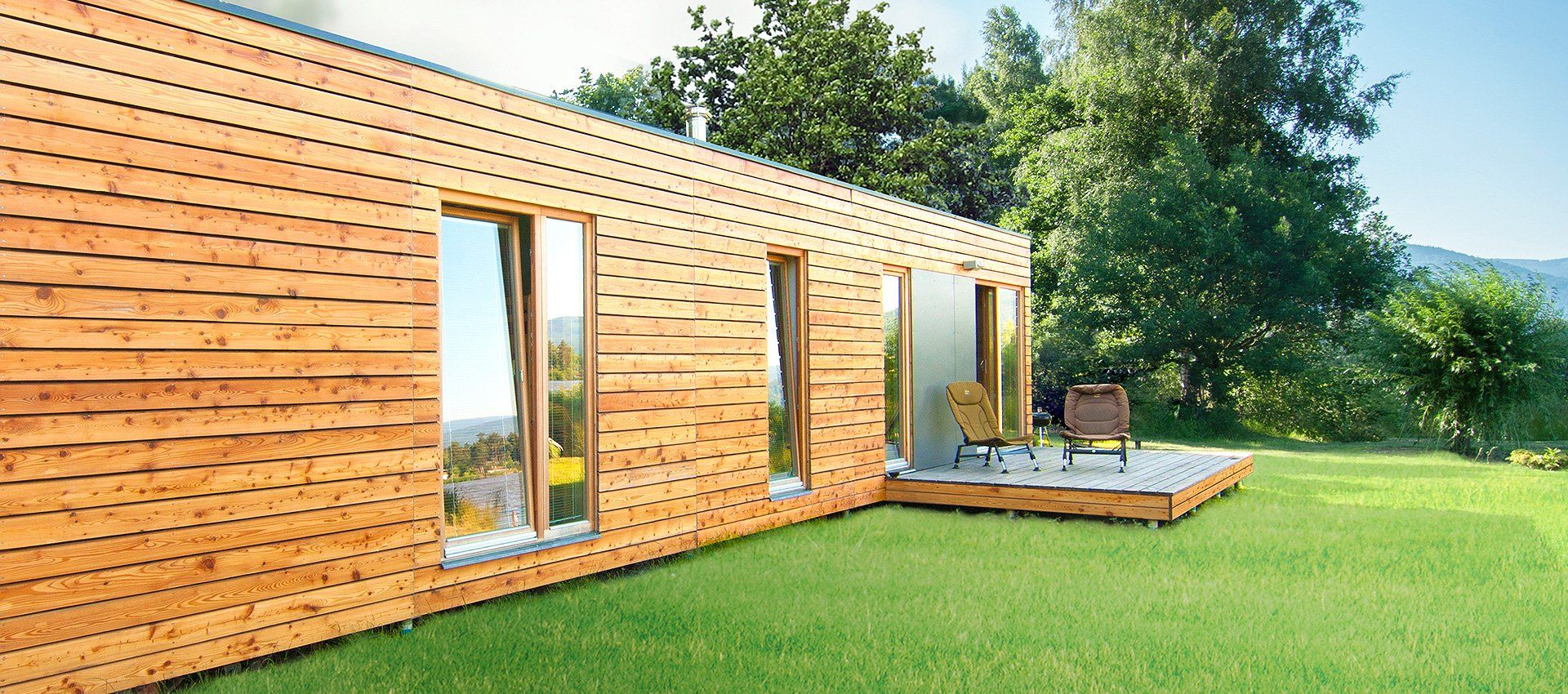 Design gartenh user moderne holzbauten naturhouse for Moderne wohncontainer