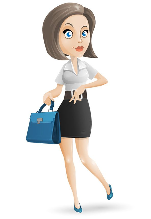 Cartoon Characters Looking Forward : Free businesswoman vector character featuring smart and