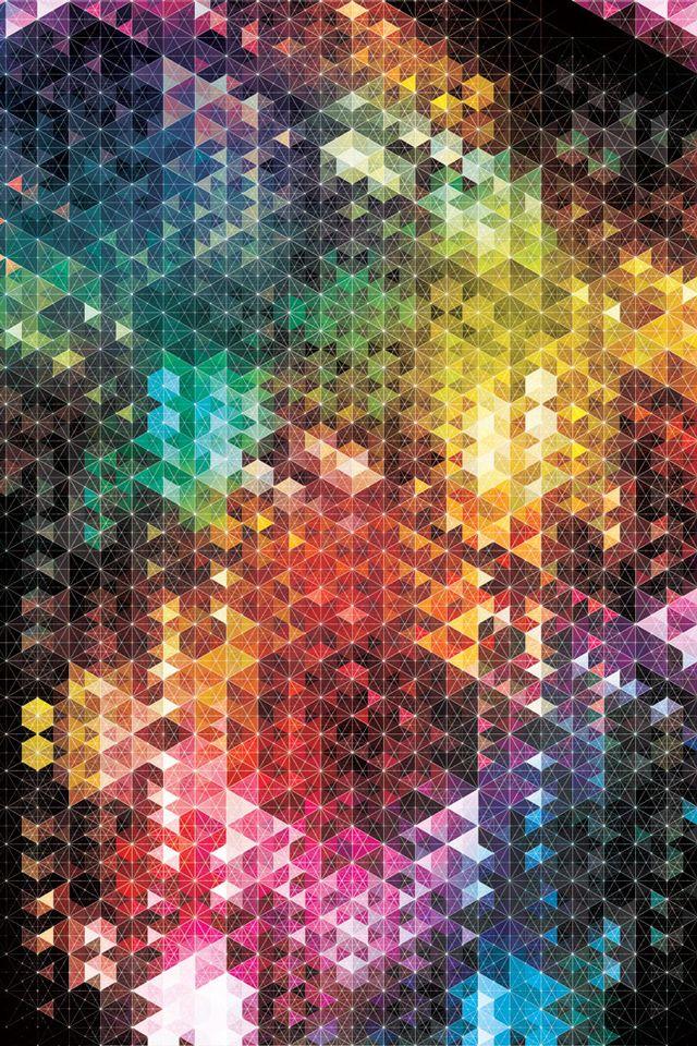 Color Sparks Iphone 4 4s Wallpaper Geometric Artwork Geometric Art Artwork