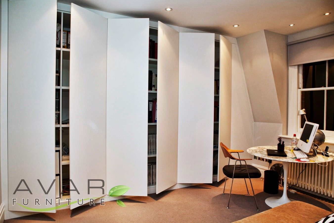 Fitted Wardrobes London, All doors semi-opened from Avar Furniture