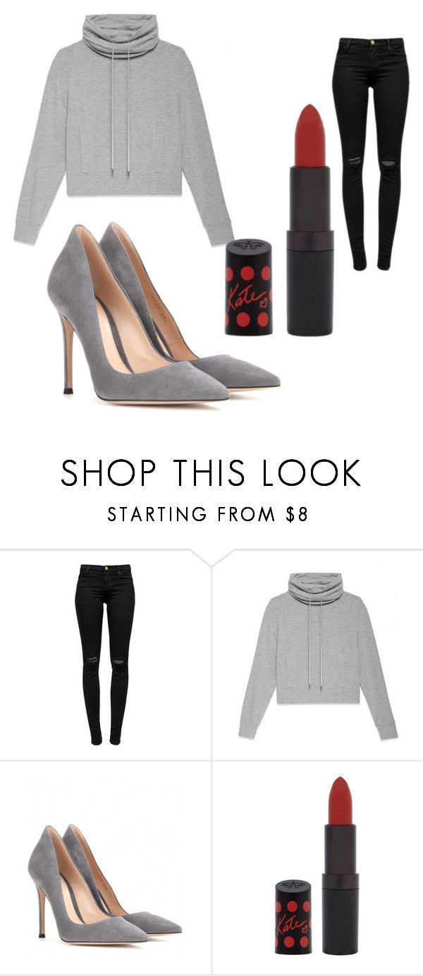 """""""Simplicity"""" by chloemiing ❤ liked on Polyvore featuring J Brand, Helmut Lang, Gianvito Rossi and Rimmel"""