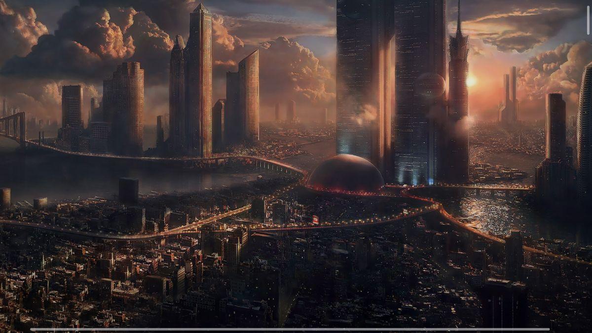 A Night In Coruscant Futuristic City Fantasy City Future Wallpaper