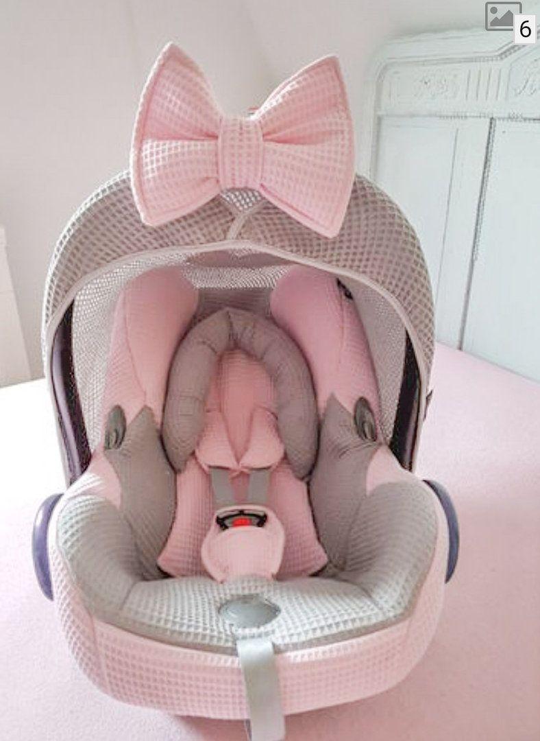 Maxi Cosi Cabrio complete covering pink grey