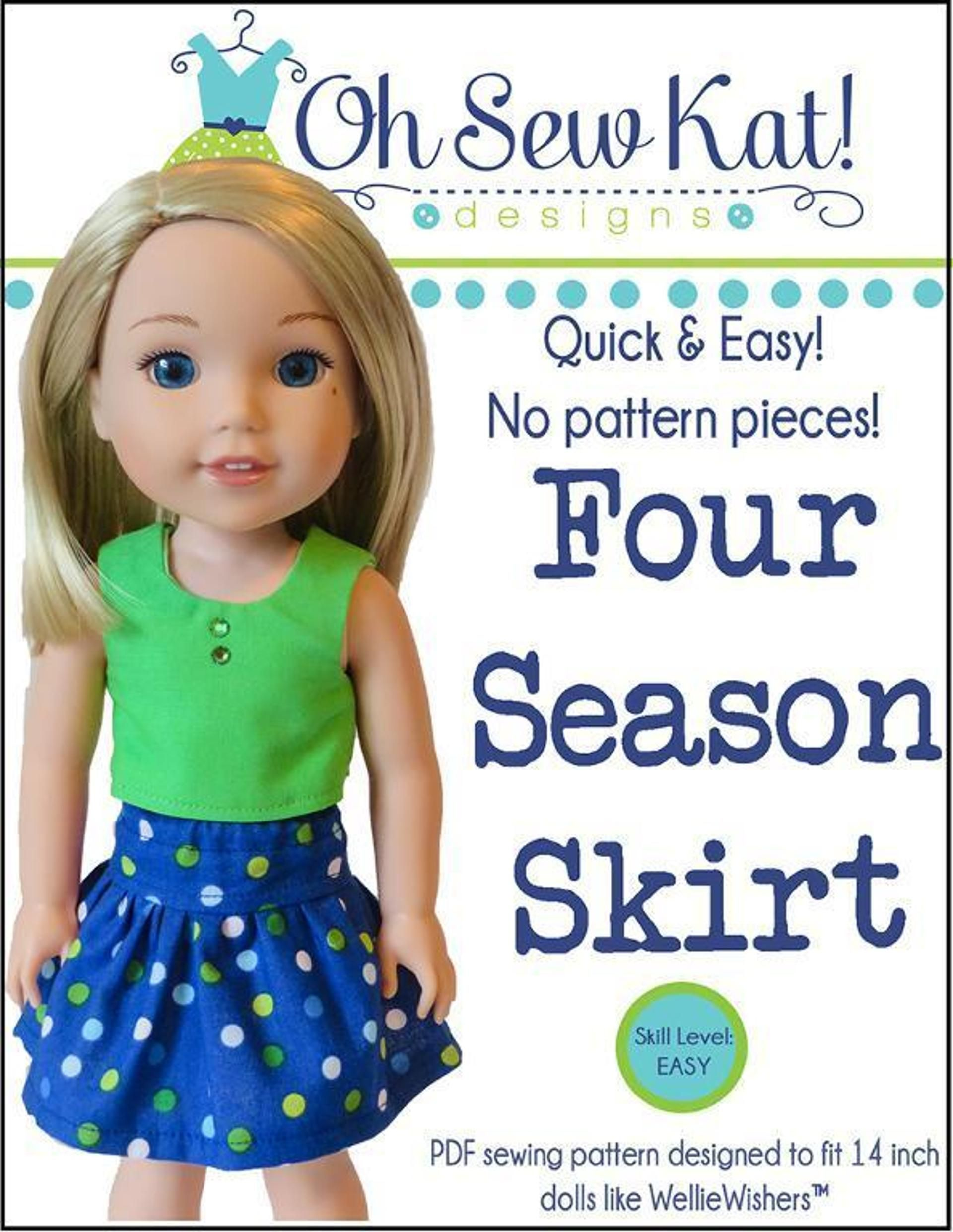 Free Welliewishers Doll Skirt Four Season Skirt