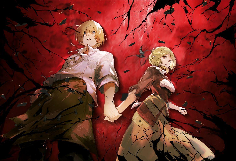 Blonde Hair Blue Eyes Braids Brown Eyes Cropped Enri Emmot Male Nfirea Bareare Overlord Red Short Hair So Bin Art Art Album Anime