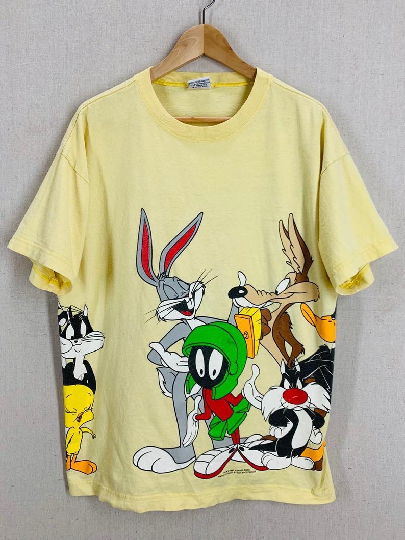 Looney Toons RETRO TWEETY BIRD Vintage Style Licensed Women/'s T-Shirt All Sizes