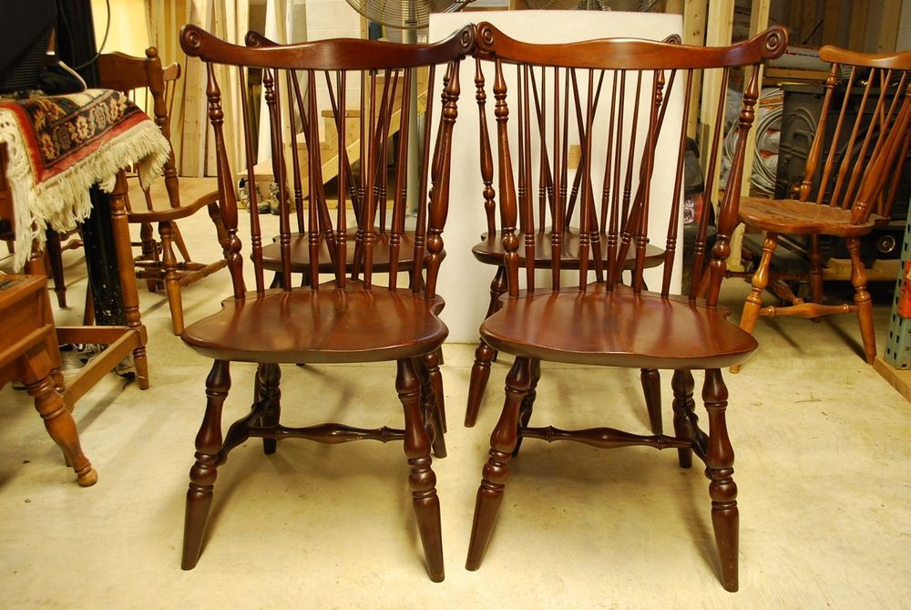 Vintage Ethan Allen Solid Dark Cherry 11 6031 Scroll Back