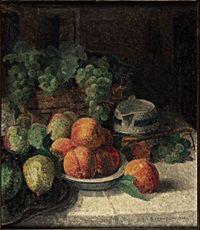 Natura morta di frutta, 1932, Giuseppe Manzone