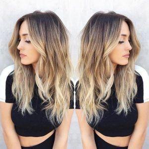 Blonde Balayage Hairstyle Dark Brown To