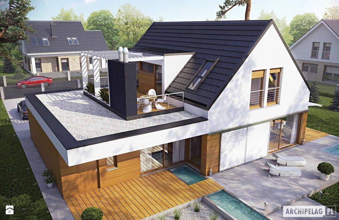 Projekt domu Neo G1 ENERGO - widok z góry - zdjęcie od ARCHIPELAG Pracownia Projektowa