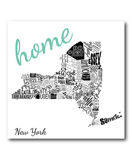 New York Home Wrapped Canvas Wall Art Home Decor