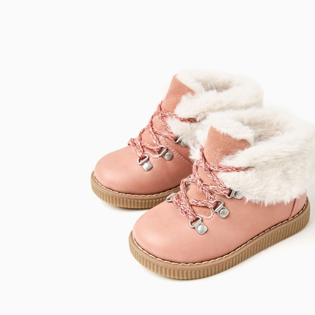 LINED MOUNTAIN-STYLE BOOTS-SHOES AND BAGS-BABY GIRL  f0059052a