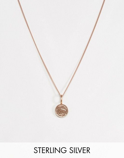 Katie Mullally Silver Crown Necklace 09HWc