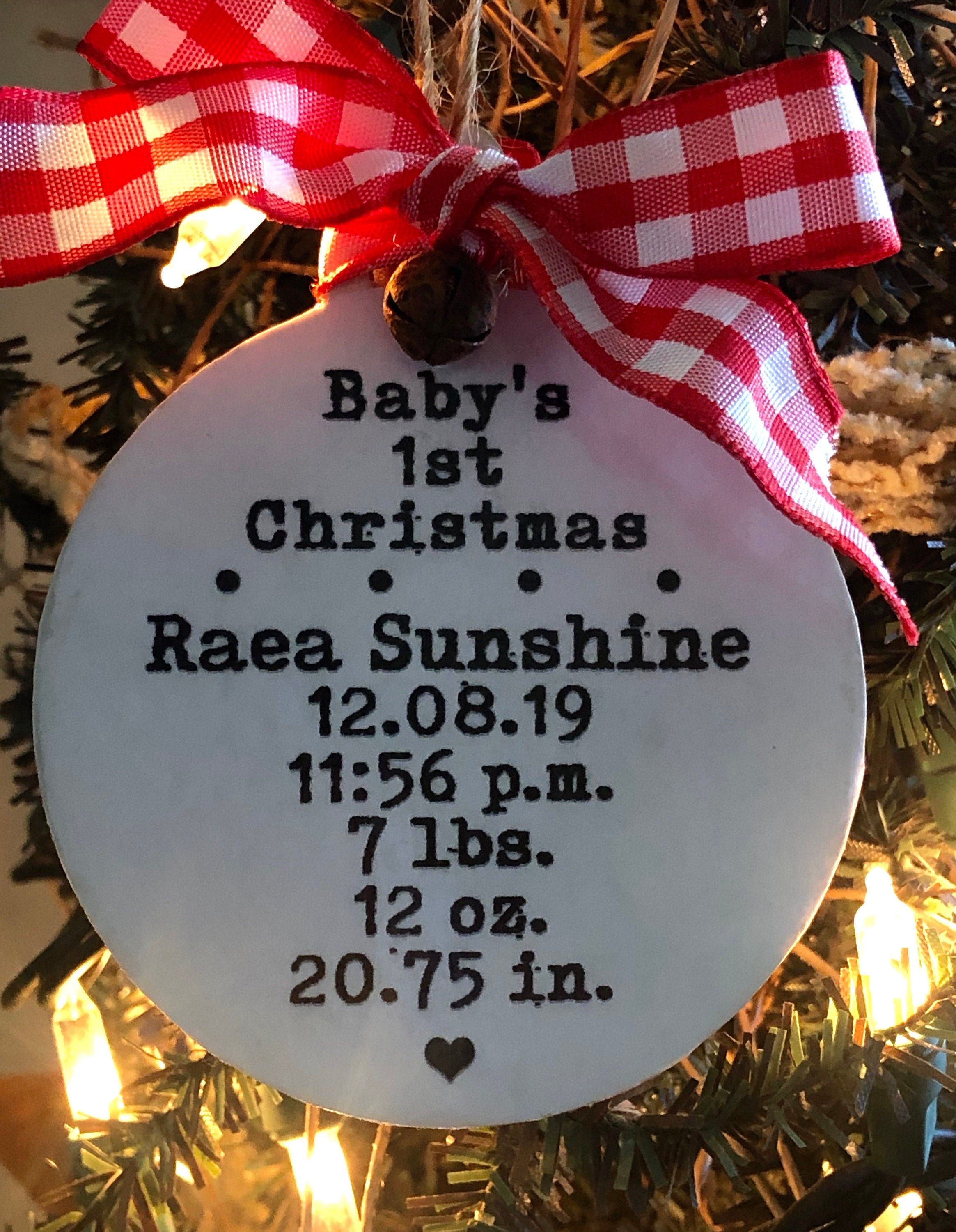 2020 Baby S First Christmas Ornament Personalized Baby Ornament Custom Custom Christmas Ornaments Personalized Baby Shower Gifts Personalized Baby Ornaments