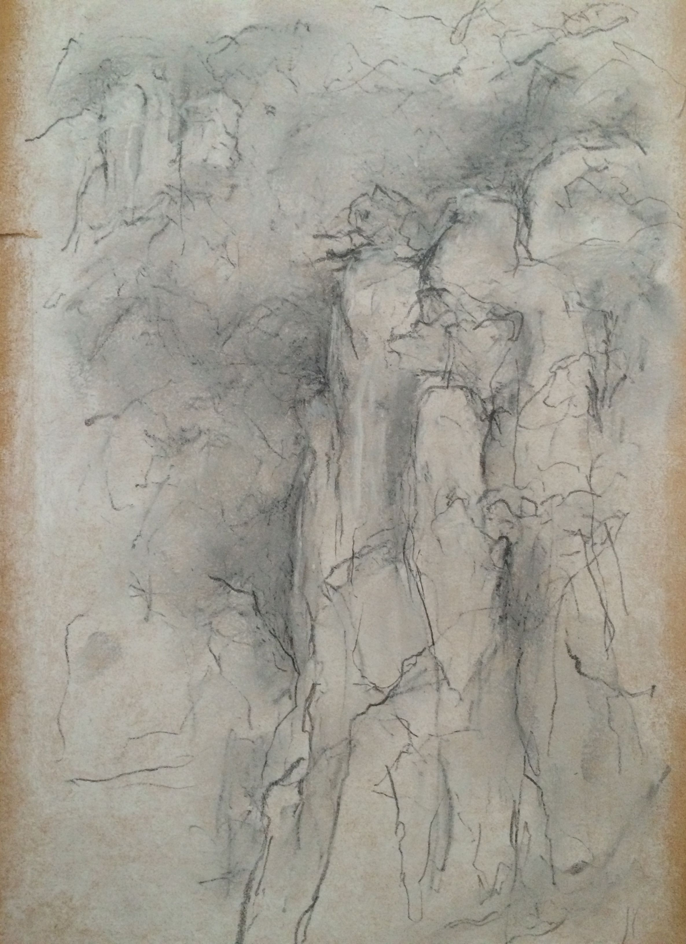 Ilanit edry white pastel and pencil on antique paper my drawings