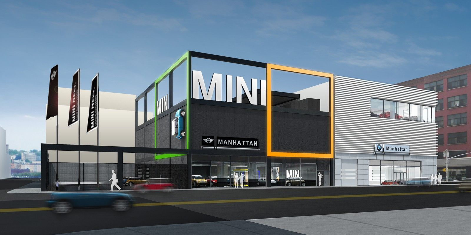 Bmw dealership bmw to renovate nyc bmw and mini dealerships for a sustainable future