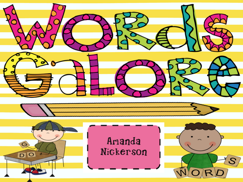 Great ideas for word work station