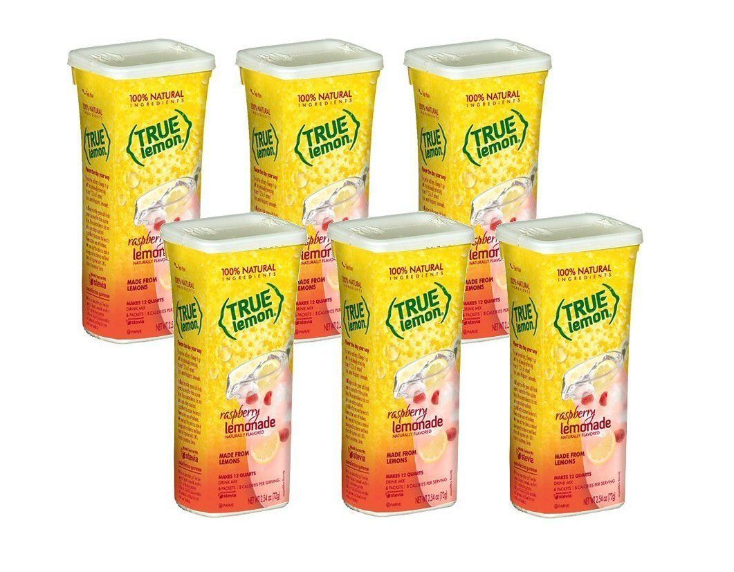 True Lemon 100% Natural Raspberry Lemonade Drink Mix 6 Packets (Pack of 6 - Makes 72 Quarts Total) >>> See this great image @ : Fresh Groceries