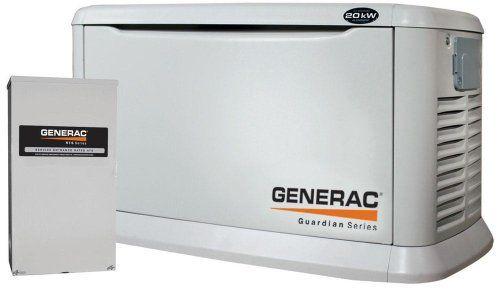 Generac Guardian Series 5875 20 000 Watt Air Cooled Liquid Propane Natural Gas Powered Standby Generat Natural Gas Generator Standby Generators Generator House