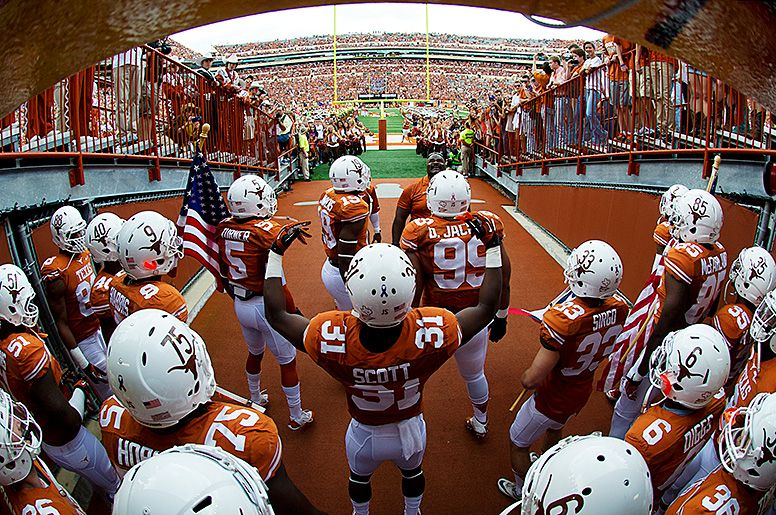 Texas Football S View From The Tunnel As They Enter Darrell K