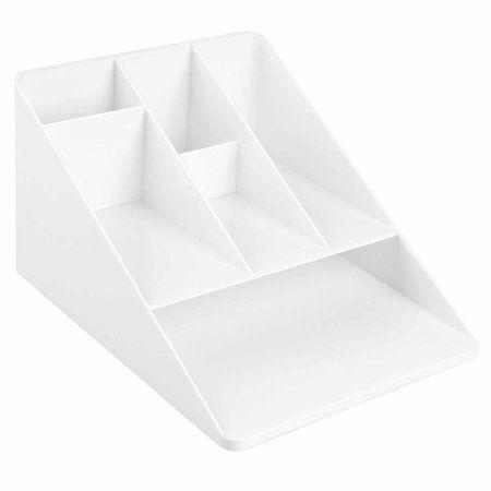 Interdesign Linus Office Supplies Desk Organizer With Paper Tray White Walmart Com In 2020 Desk Organization Desk Organization Office Symple Stuff