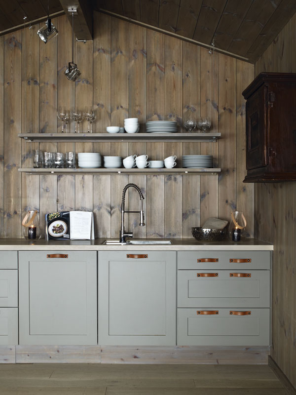 I think this is one of my favorite uses of wood on the - Poplar wood kitchen cabinets ...