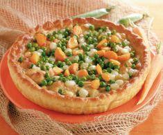 Torta con i piselli ricetta cucina naturale pizze e torte salate