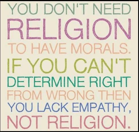 Without God to define what is moral, you can't determine right from wrong.  Everything is then relative and subjective based upon each individual persons beliefs, culture, customs, and practices.