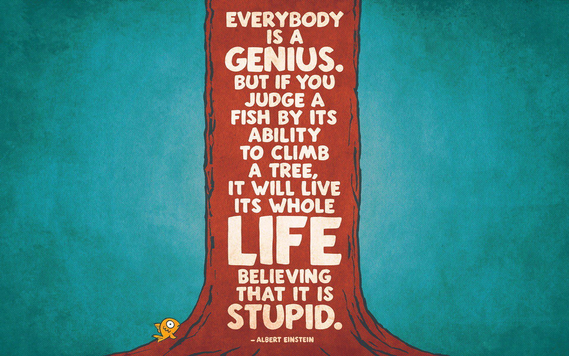 Albert einstein quote fish climb a tree 4047