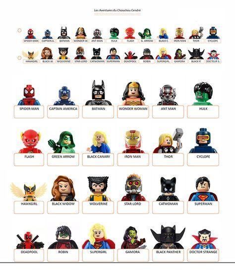 Qui est ce imprimer super heroes marvel dc lego guess who printables - Devine tete a imprimer ...