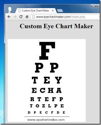 Eye Chart Maker Eye Chart Generators Eye Chart Templates Iphone