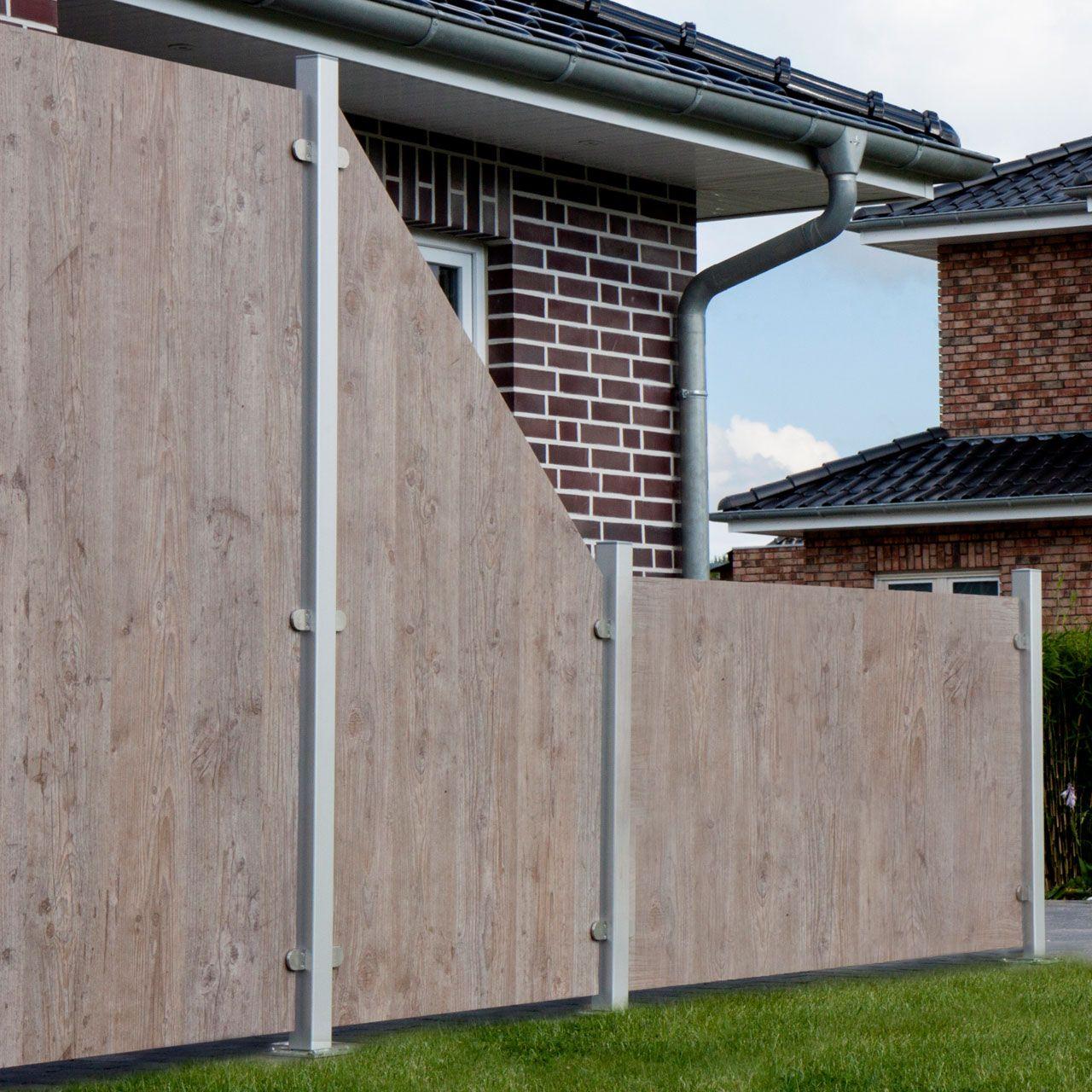 HPL Sichtschutz Premium, Holzoptik Sichtschutz garten