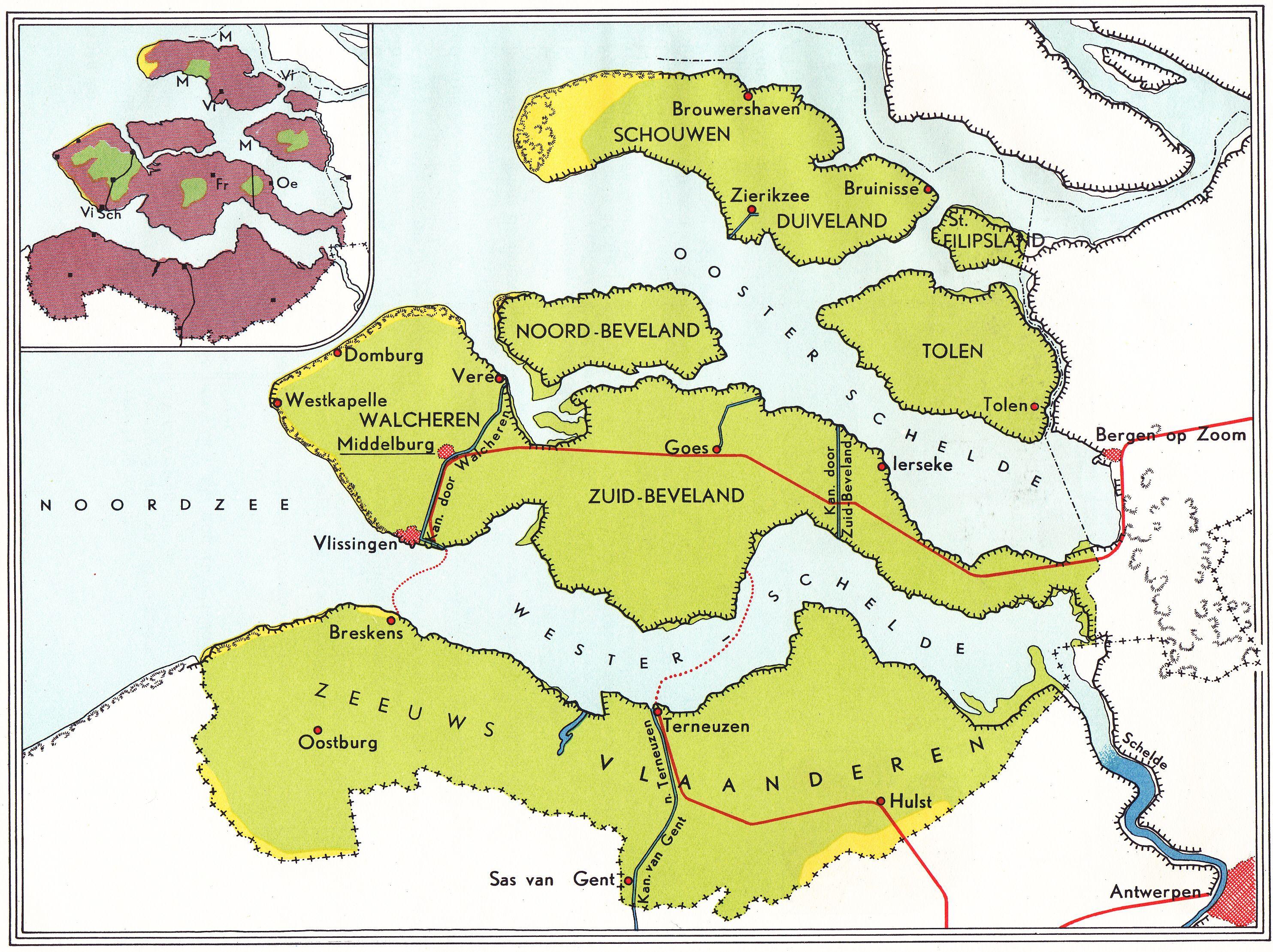 Grijpma en Van Meurs ca 1955 Zeeland in kaarten Zeeland