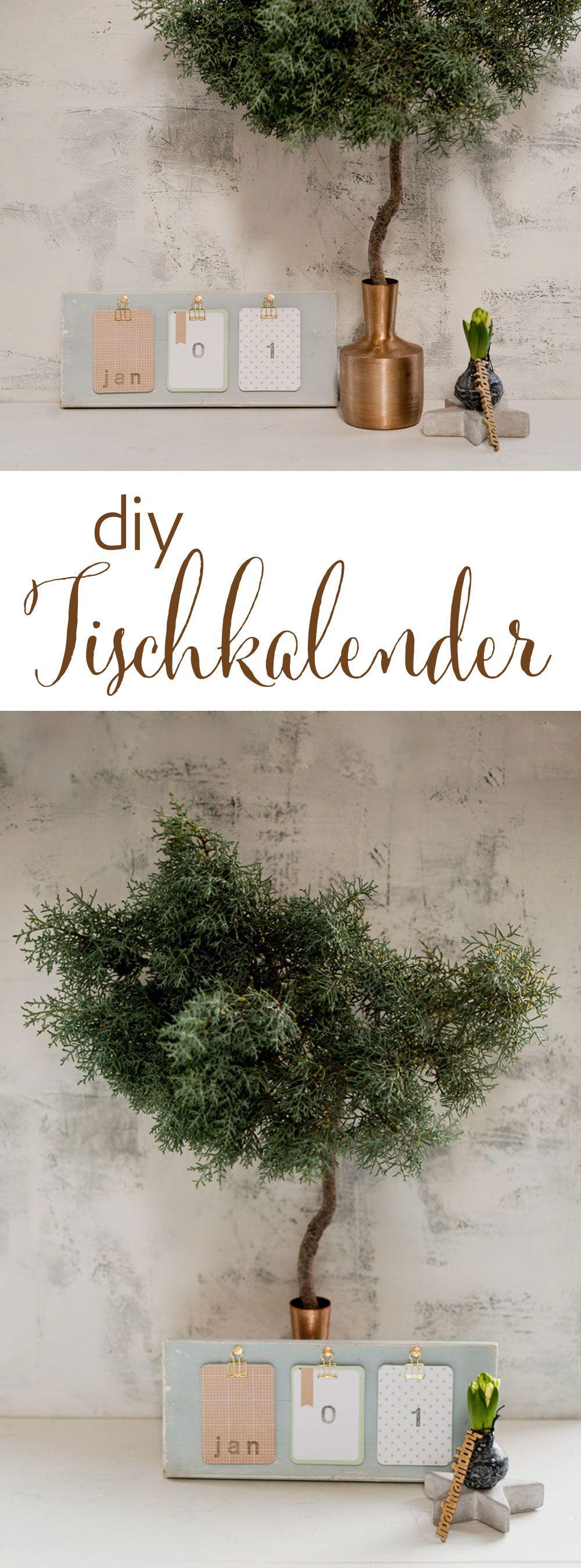 Diy tischkalender f r s neue jahr diy alles deutsch pinterest kalender - Dekoration englisch ...
