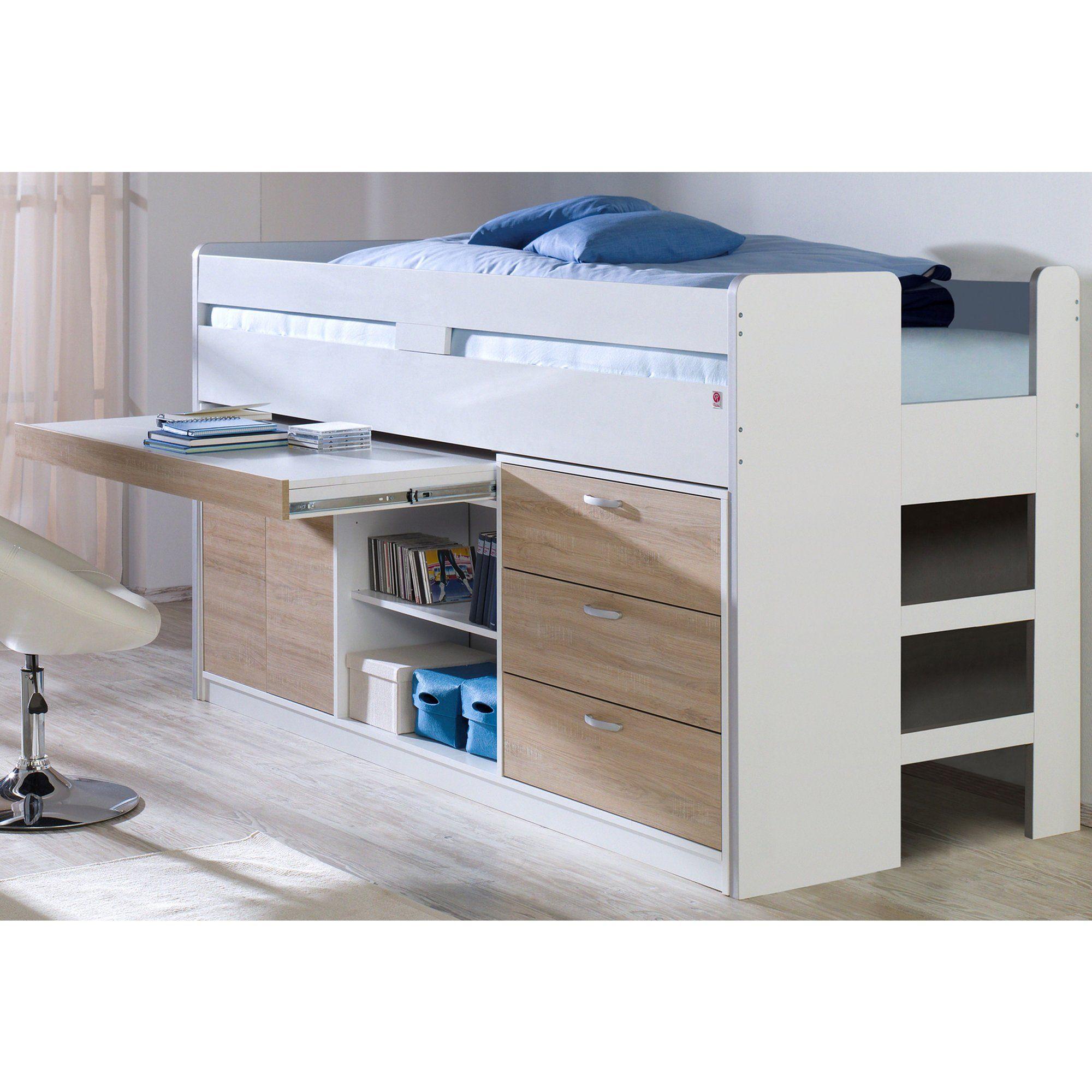 lit mezzanine gauthier tables de chevet roche bobois lit mezzanine new galaxy blanc gautier. Black Bedroom Furniture Sets. Home Design Ideas