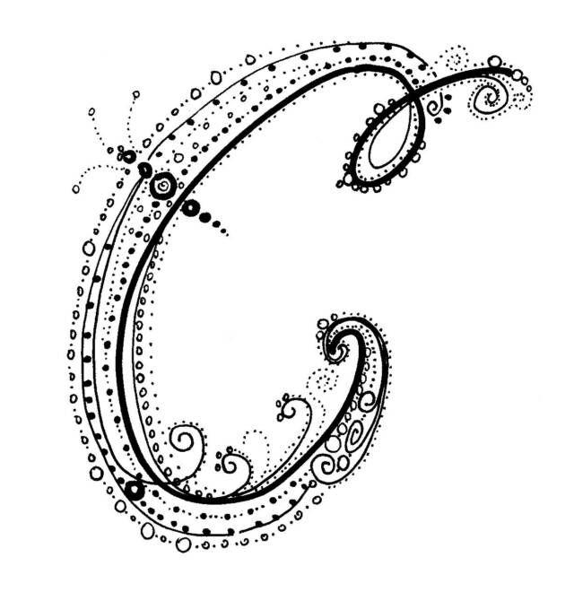 Fancy Alphabet - C. http://www.kathiquinn.com | Letters ...