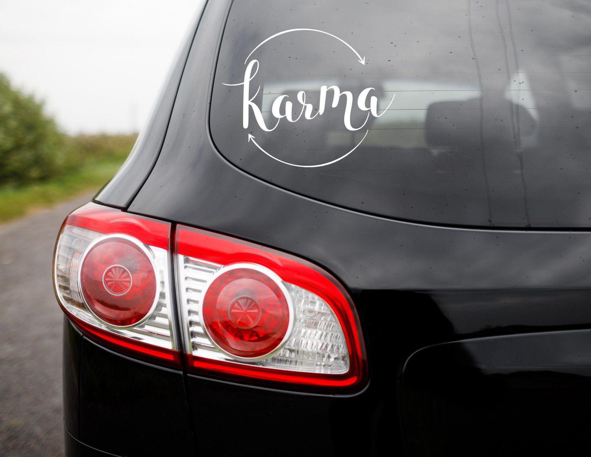 Karma Car Decal Karma Mug Sticker Karma Laptop Sticker Be A Etsy Vinyl Decals Laptop Vinyl Decal Bottle Decals [ 1545 x 2000 Pixel ]