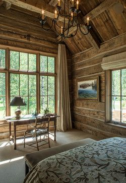 A room with a view - rustic - Bedroom - Other Metro - MILLER ARCHITECTS PC