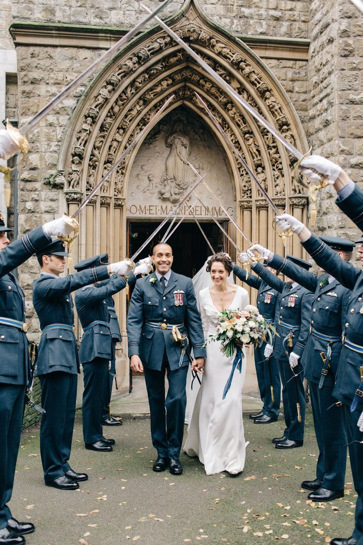 Wedding photography ideas guard of honour with bride in charlotte