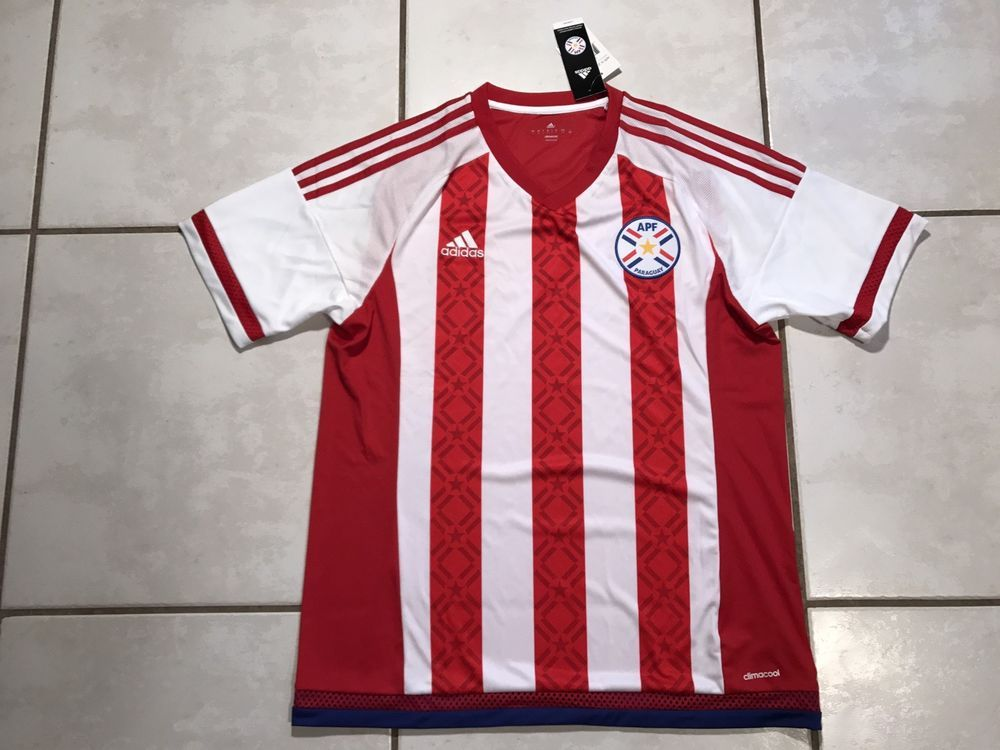 NWT ADIDAS Paraguay National Team 2016 Soccer Jersey Men's Large