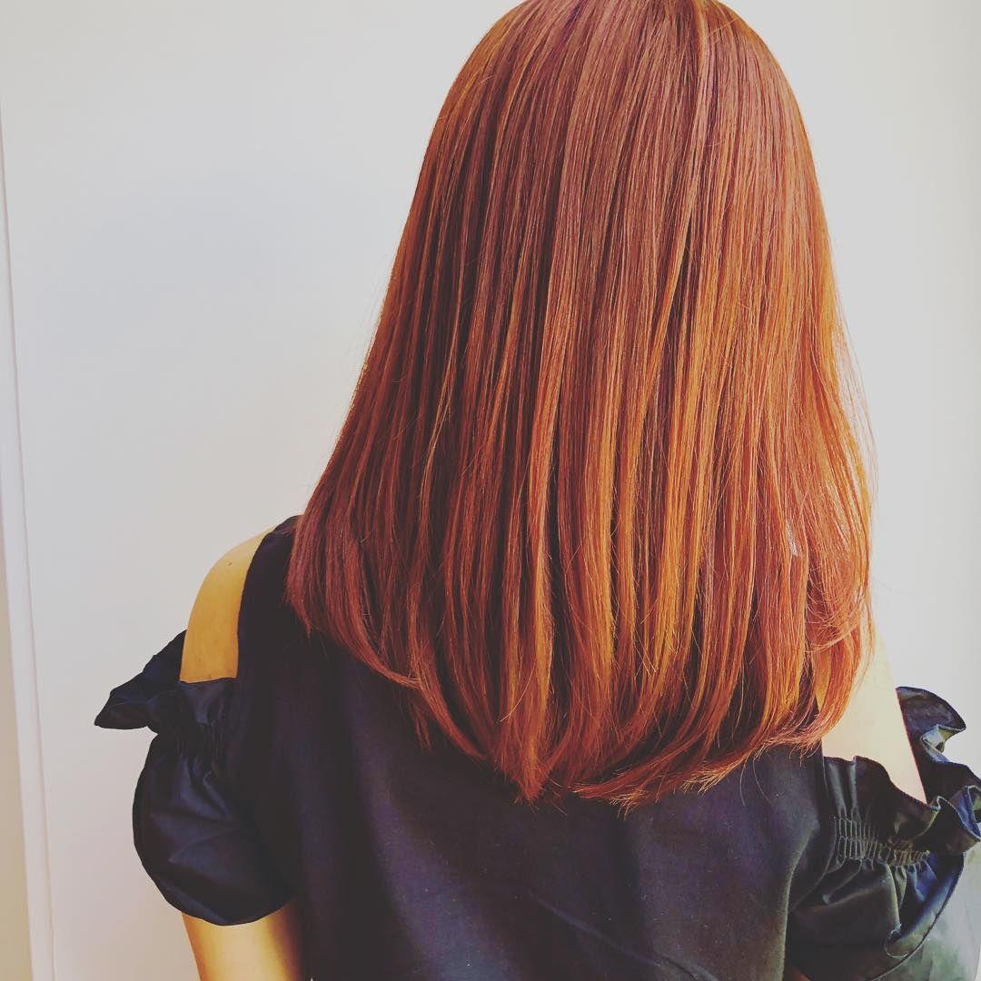 New Hair Color アプリコットオレンジ ブリーチなしでもきれいなオレンジカラーに Haircolor Hair Hairstyle クレオヘアー クレオ ヘアカラー アプリコットオレンジ オレンジカラー オルチャン オルチ 髪色 オレンジ カラフルヘアー ヘアカラー