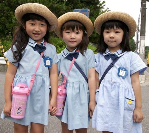 School girls elementary japanese